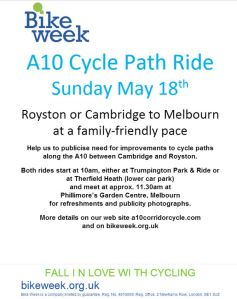 A10 CCC poster for May 18th ride