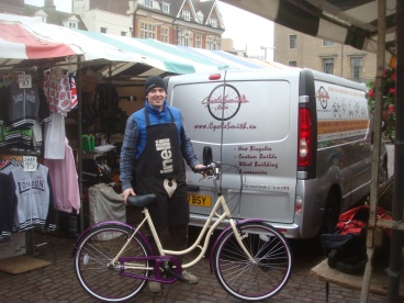 CycleSmith at Cambridge Market. A wizzard with Dutch bikes by all accounts (as well as other bikes)