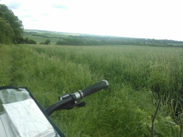 Overlooking the local countryside from the bridleways