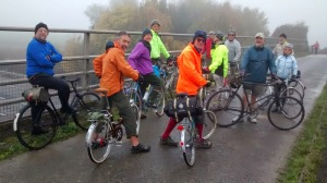 V-CC cyclists using the newly opened M11 Cycle Bidge