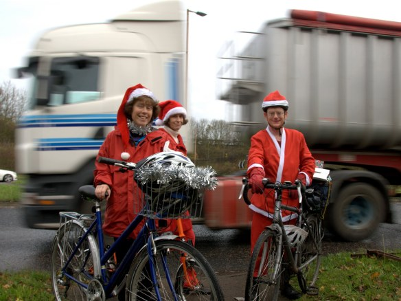 Santa Cycle lorry